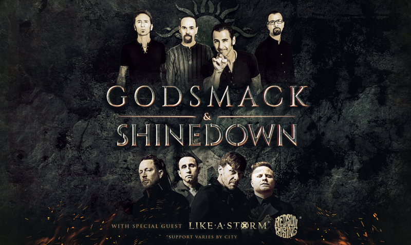 Shinedown and Godsmack Announce 2018 Tour
