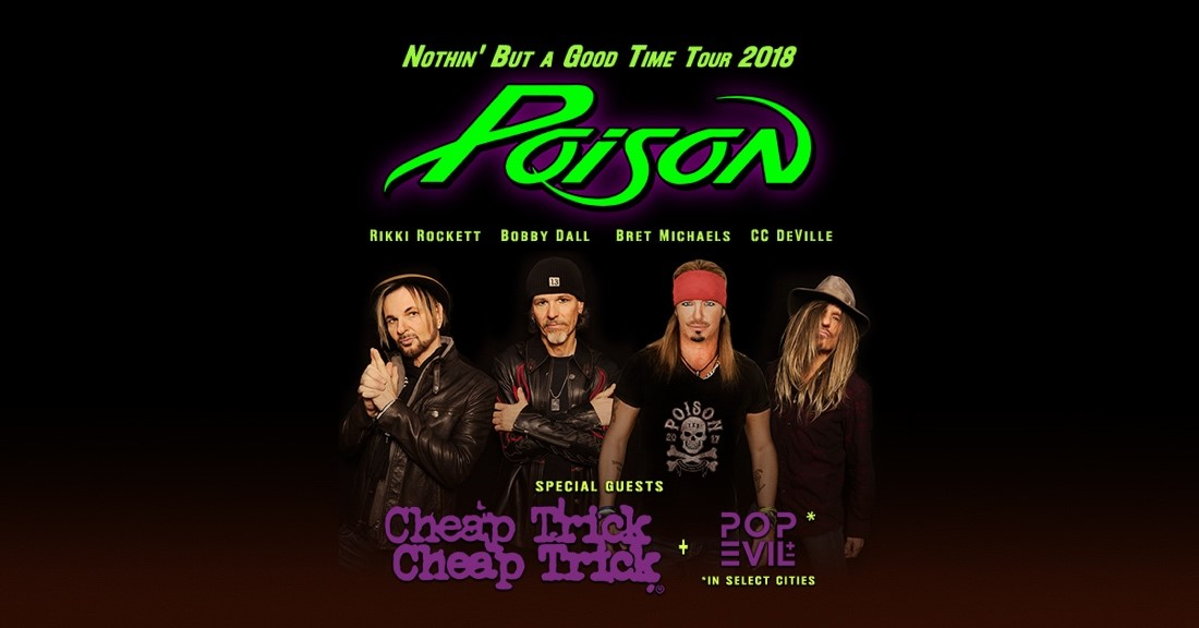 Posion, Cheap Trick & Pop Evil Play Blossom on June 12th, 2018
